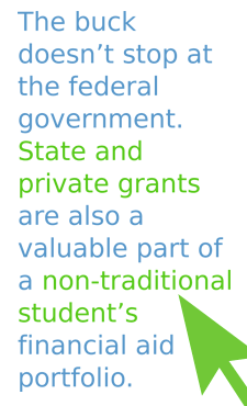 State and private grants for adult students are great options