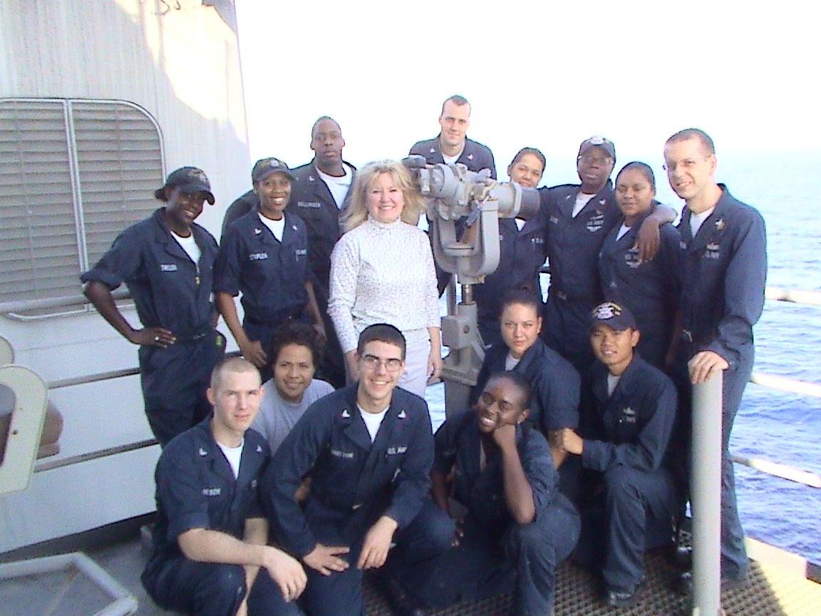 Linda Beckham, crew of the USS Pearl Harbor
