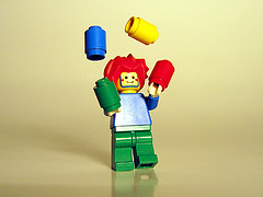 Becoming an Online Teacher | Lego man juggling