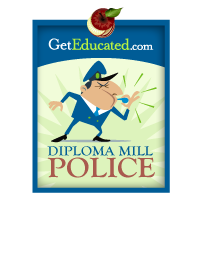 The Diploma Mill Police alert consumers to online degree scams.