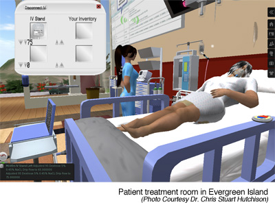 Virtual Patient Treatment Room in Second Life