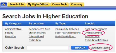 Higher Ed Jobs Search - Remote and Online Teaching Job Openings