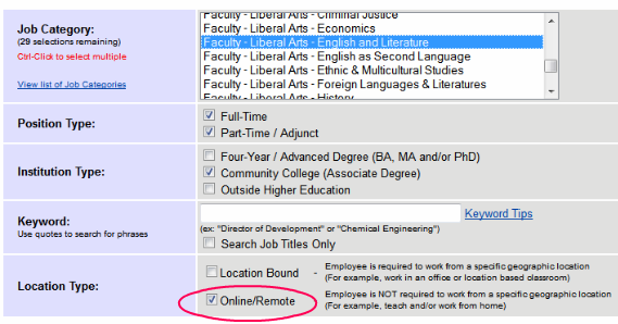 Higher Ed Jobs Advanced Search