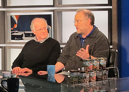 Ben and Jerry on a TV talk show