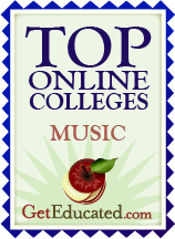 Top Online Music Colleges seal
