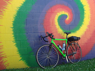 Top Online Socially Progressive Colleges|Tie-dye wall mural with bike