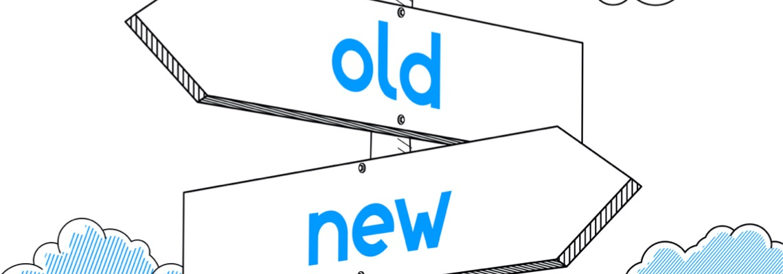 new-old-signpost-white-background-illustration-id920270946
