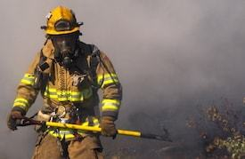 Grads with an online fire science degree may battle fire in the forest or in the laboratory
