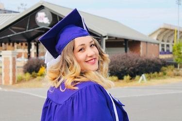 A happy online certificate graduate
