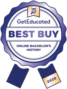 Cost rankings of online bachelor's degree in history options