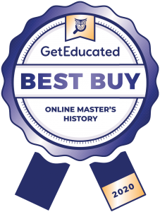 Online master's in history cost rankings