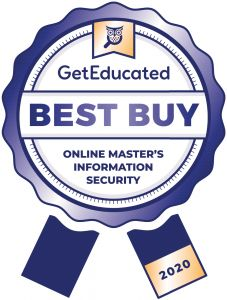 Cost rankings of master's in information security online