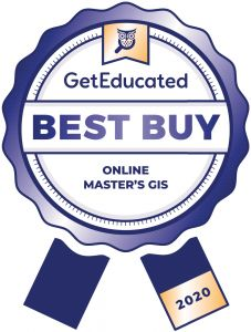 Cost rankings of online GIS master's