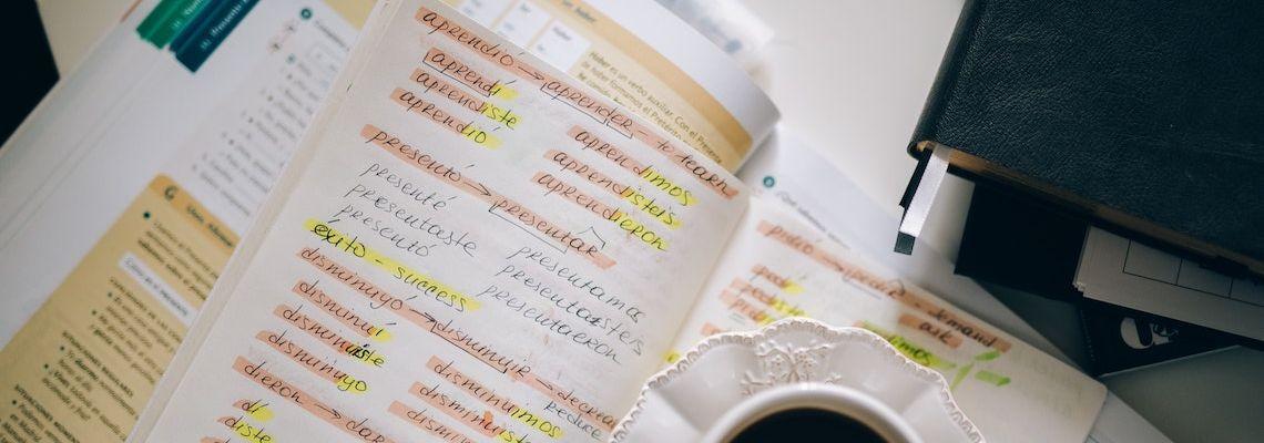 Grammar homework for an online Spanish degree